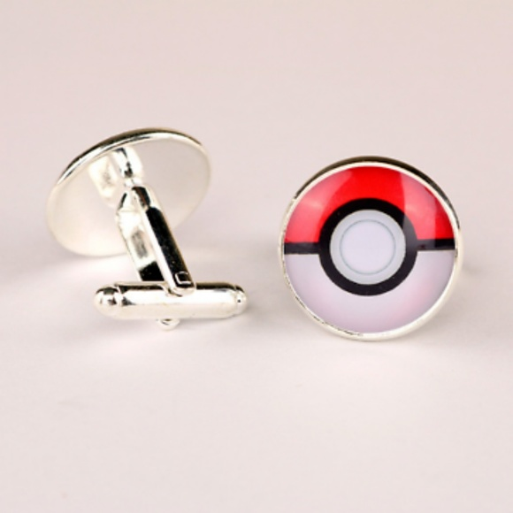 4a6ec7d4eee8 Accessories | Pokemon Pokeball Silver Brass Cuff Links | Poshmark